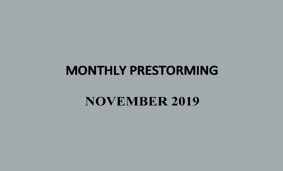 UPSC Monthly Prestorming - November 2019 for UPSC Prelims 2019
