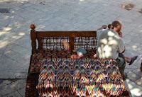 Uzbekistan, Bukhara, Lyab-i Hauz Chaikhana, topchan, © L. Gigout, 2013