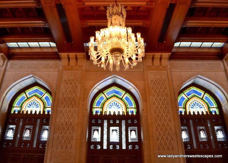 Sultan Qaboos Grand Mosque's stained glass windows