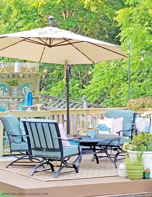deck with a coastal decor