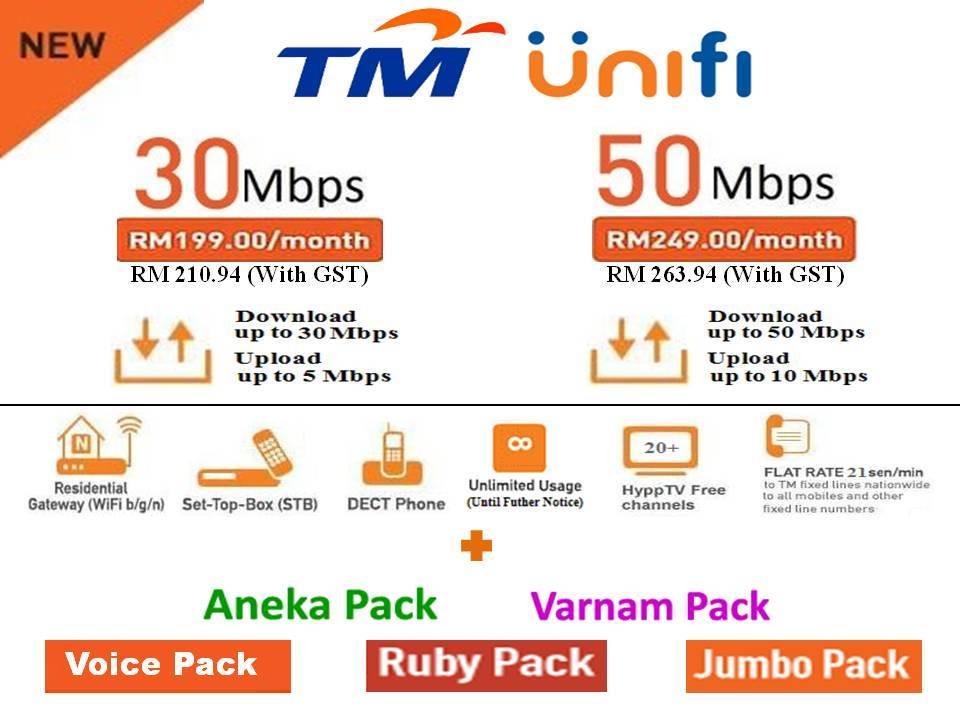 Unifi Fibre Broadband Malaysia 30mbps Amp 50mbps Plan