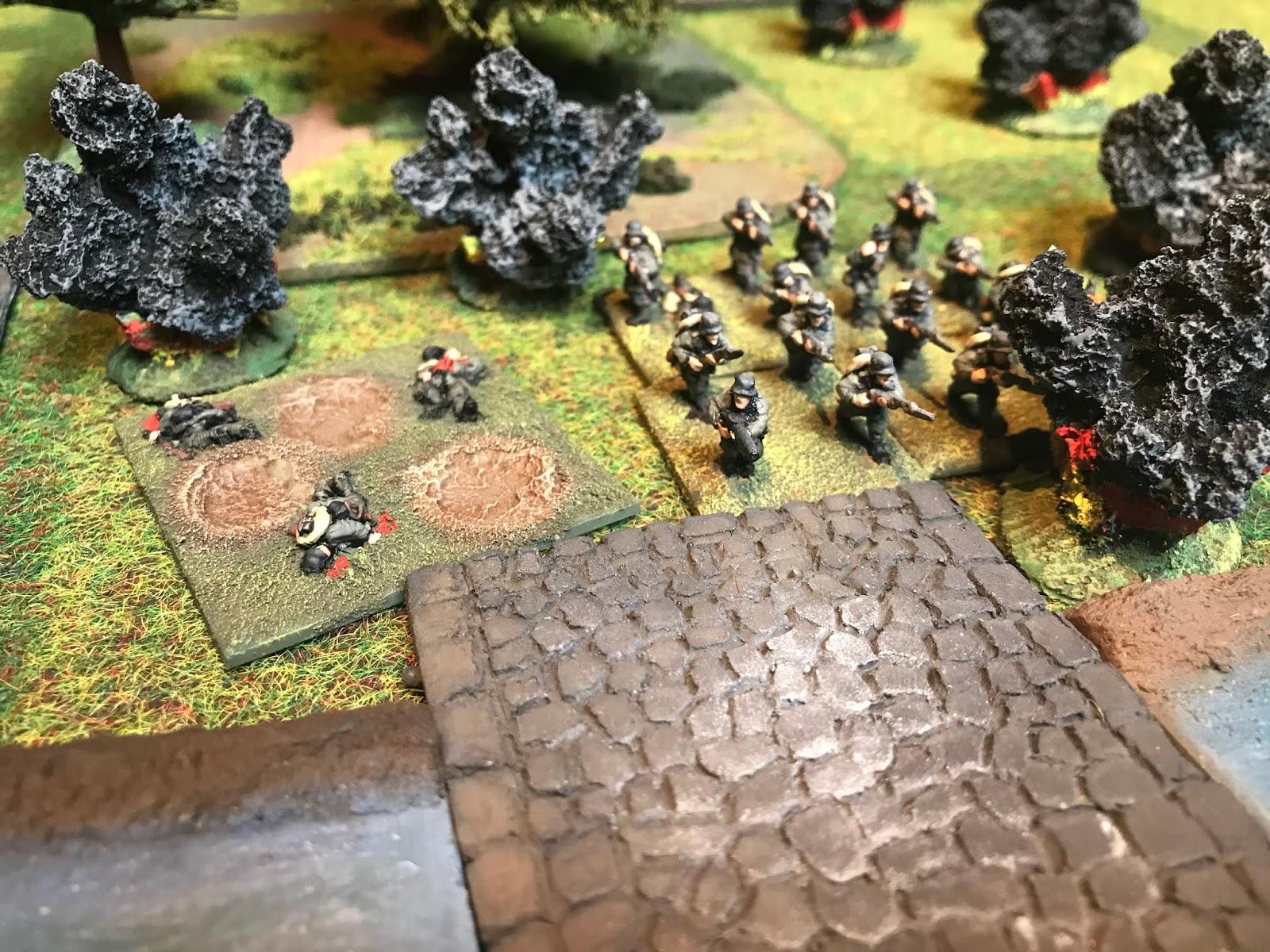 German infantry endure a British barrage
