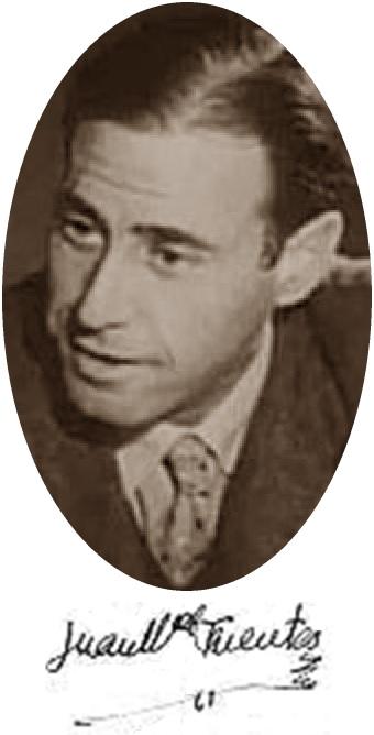 El ajedrecista Juan Manuel Fuentes González y su firma