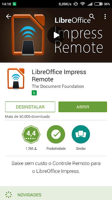 Apresente seus trabalhos pelo Smartphone Usando LibreOffice Impress remoto
