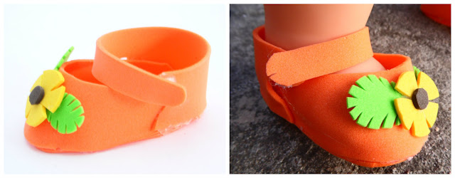 5 ideas de zapatitos de goma eva para muñecas