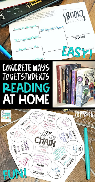 Fun, concrete ways to help motivate students to read more at home. Freebies included!