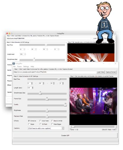 تحميل برنامج تحويل مقاطع الفيديو لصور متحركه مجانا Instagiffer