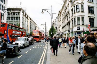 Travellers in Oxford street.