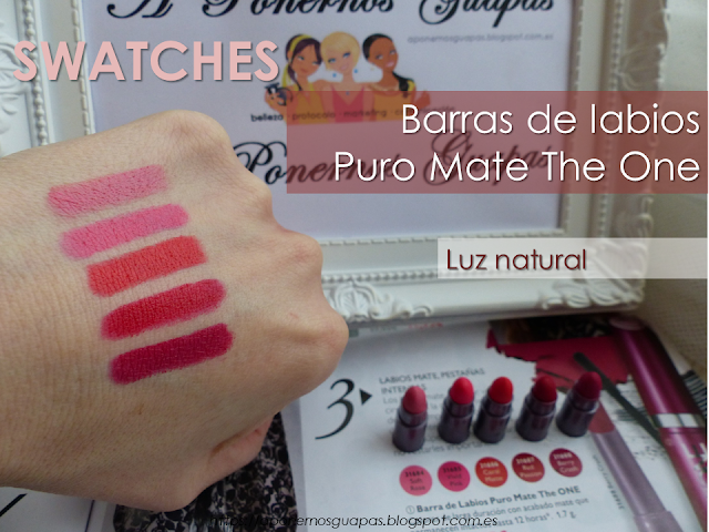Swatch luz natural Puro Mate The One Oriflame