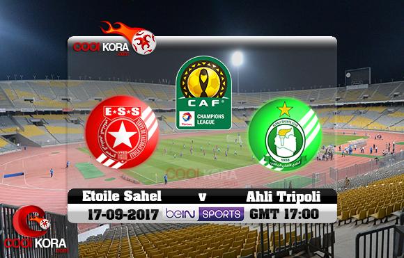 مشاهدة مباراة أهلي طرابلس والنجم الساحلي اليوم 17-9-2017 دوري أبطال أفريقيا