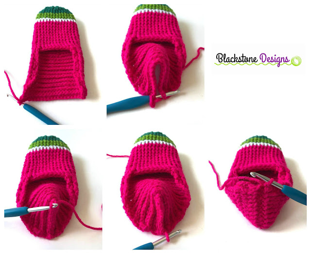 How to form the heel of a crochet slipper