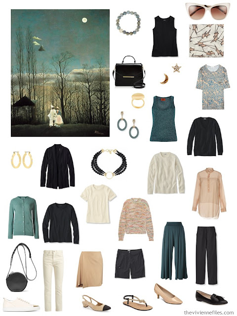 Rousseau's Carnival Evening with a wardrobe inspired by the painting