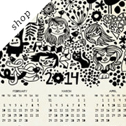 Wall calendar 2014 by DURIDO on Etsy