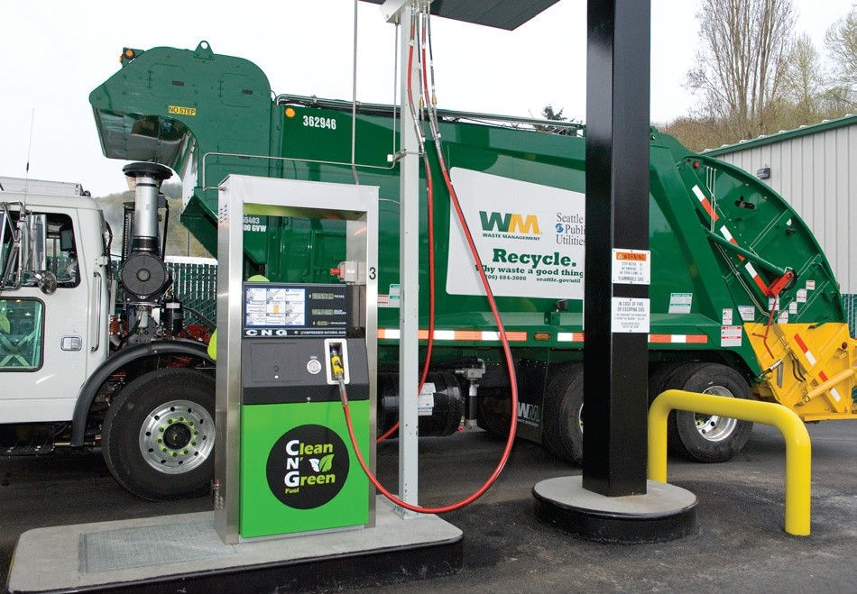 Sixth image of Waste Management Opening Fueling Station In Pinellas Park with Natural Gas Garbage Truck To Tour Brevard