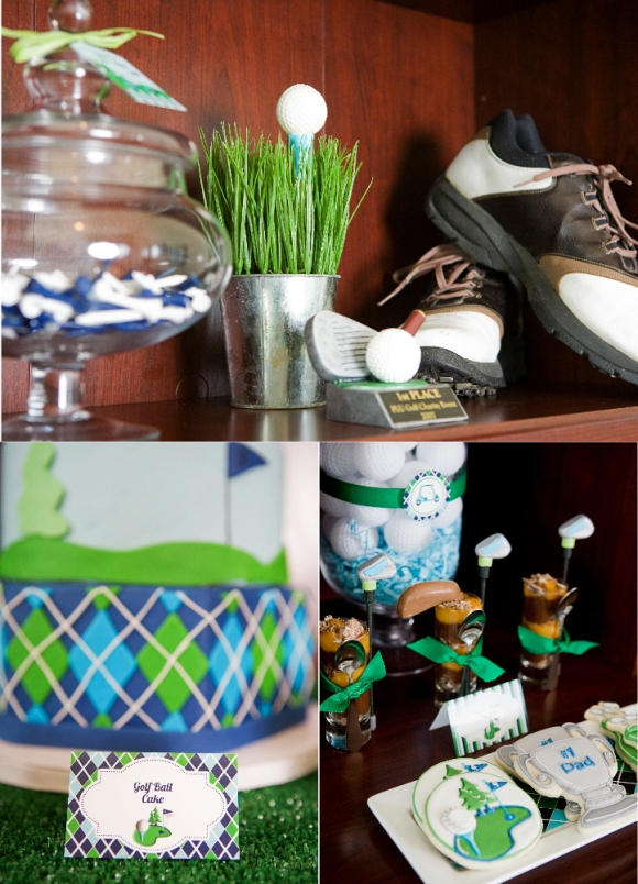 Golf Party Ideas and Printables Desserts Table  - via BirdsParty.com