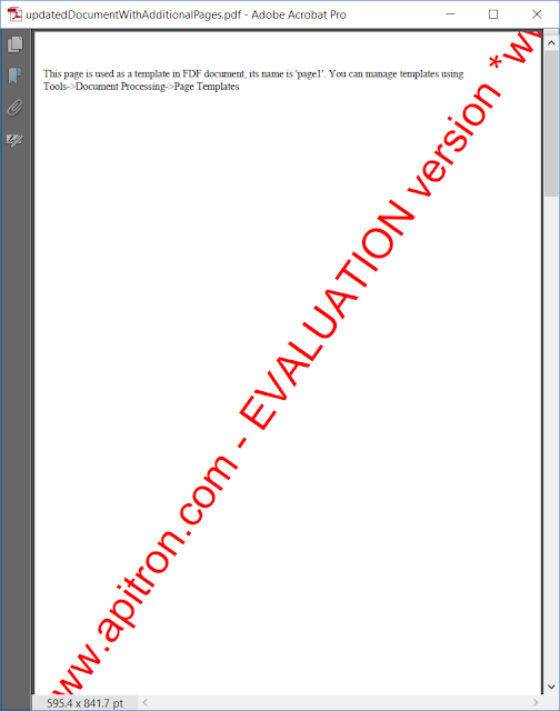 Pic. 8 PDF file created by combining several files in FDF document, first page