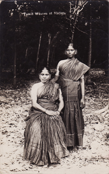 Post Card of Two Tamil Women at Malaya