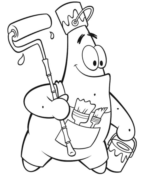 Free Coloring Pages Patrick Star Coloring Pages For Kids