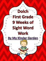 Dolch First Grade 8 Weeks of Sight Word Work