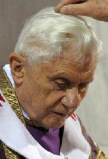 Ash Wednesday for Pope Benedict