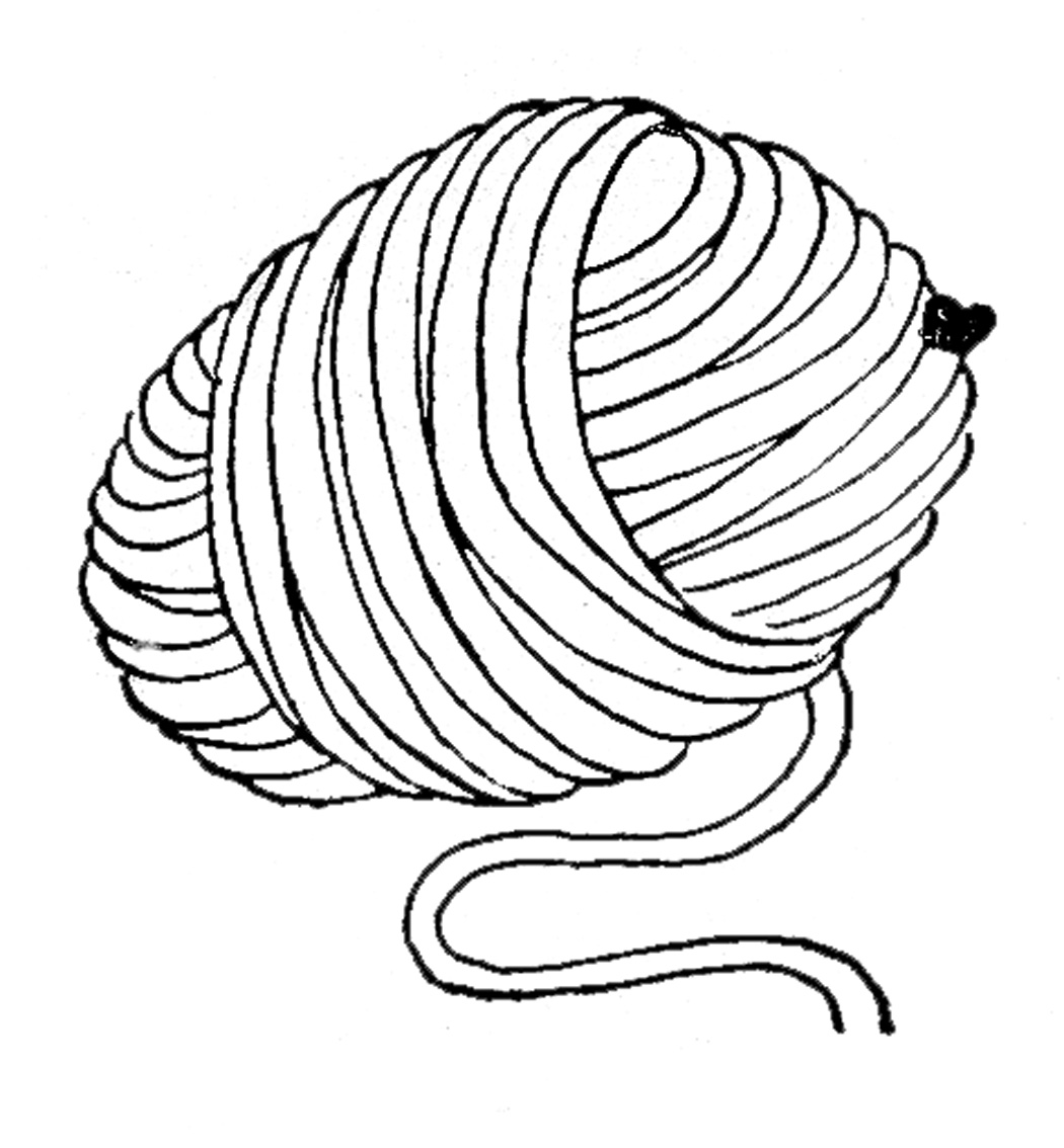 Yarn Ball Coloring Pages Sketch Coloring Page