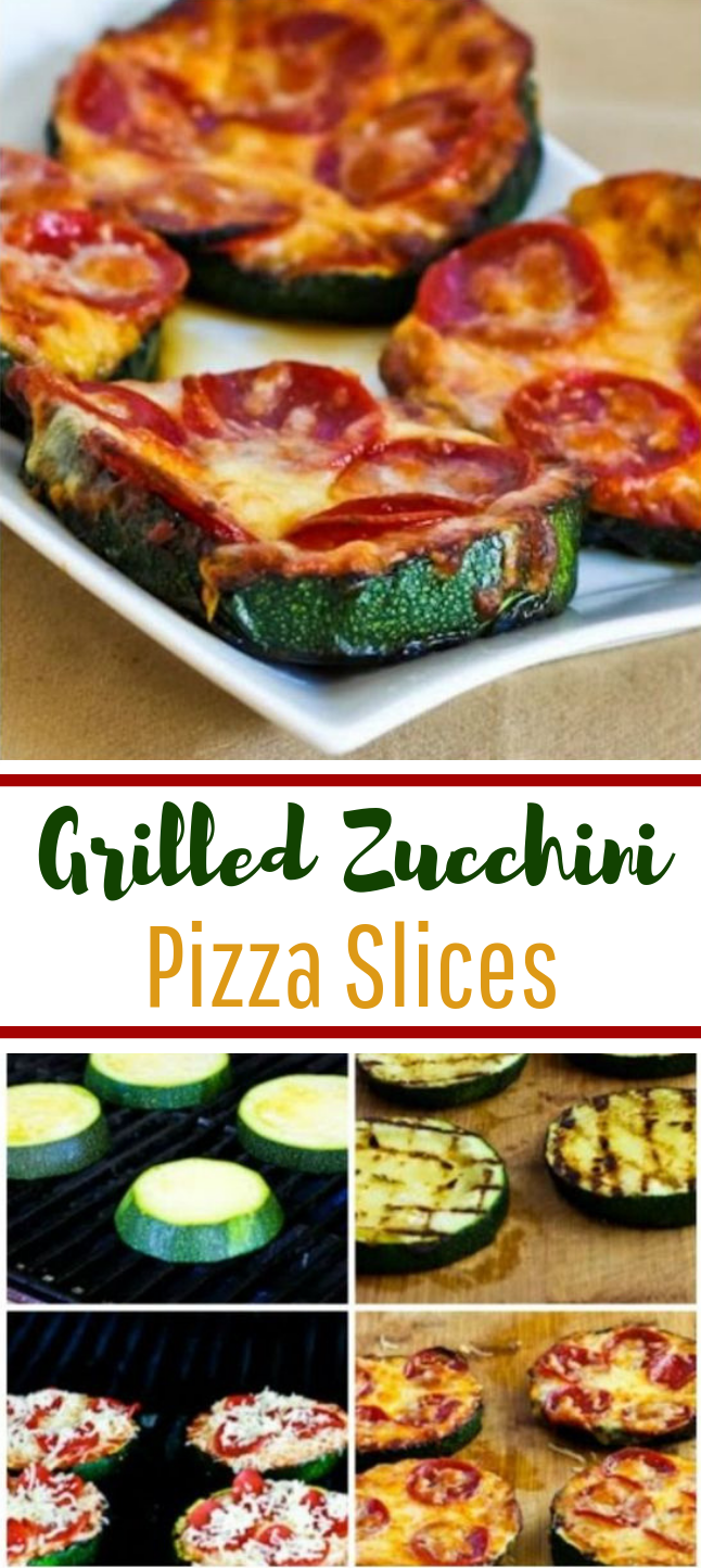 Grilled Zucchini Pizza Slices #lowcarb #keto
