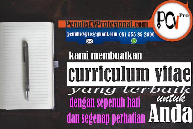 Jasa Penulis Curriculum Vitae