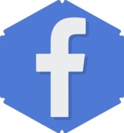 facebook hexagon icon
