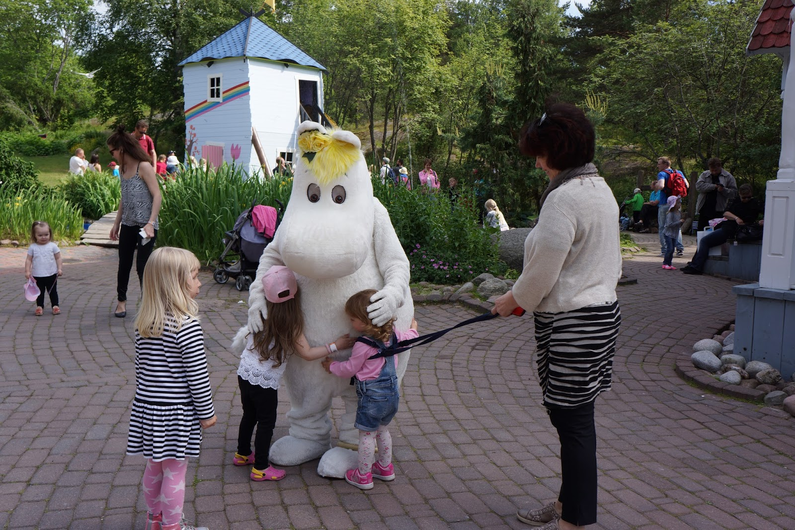 moomin world finland hugging snork maiden