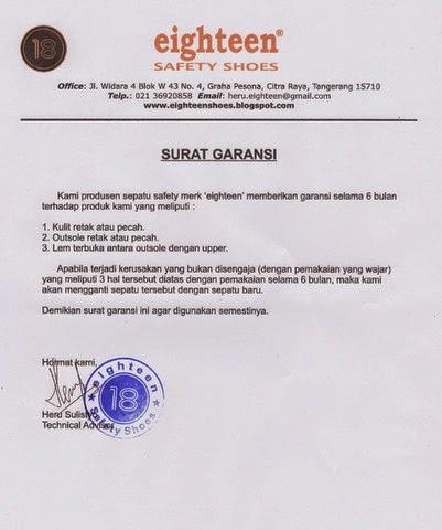 Surat Jaminan Garansi Pengadaan Eprocurement