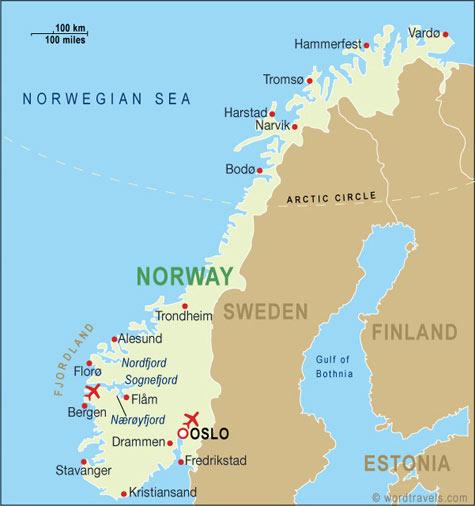 Kort Over Europa Billede Kort Over Norge Land