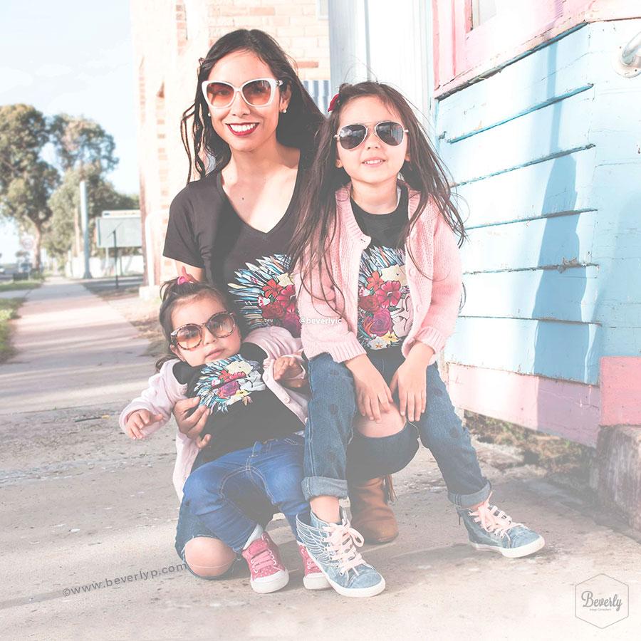 Polos igual madre e hijas