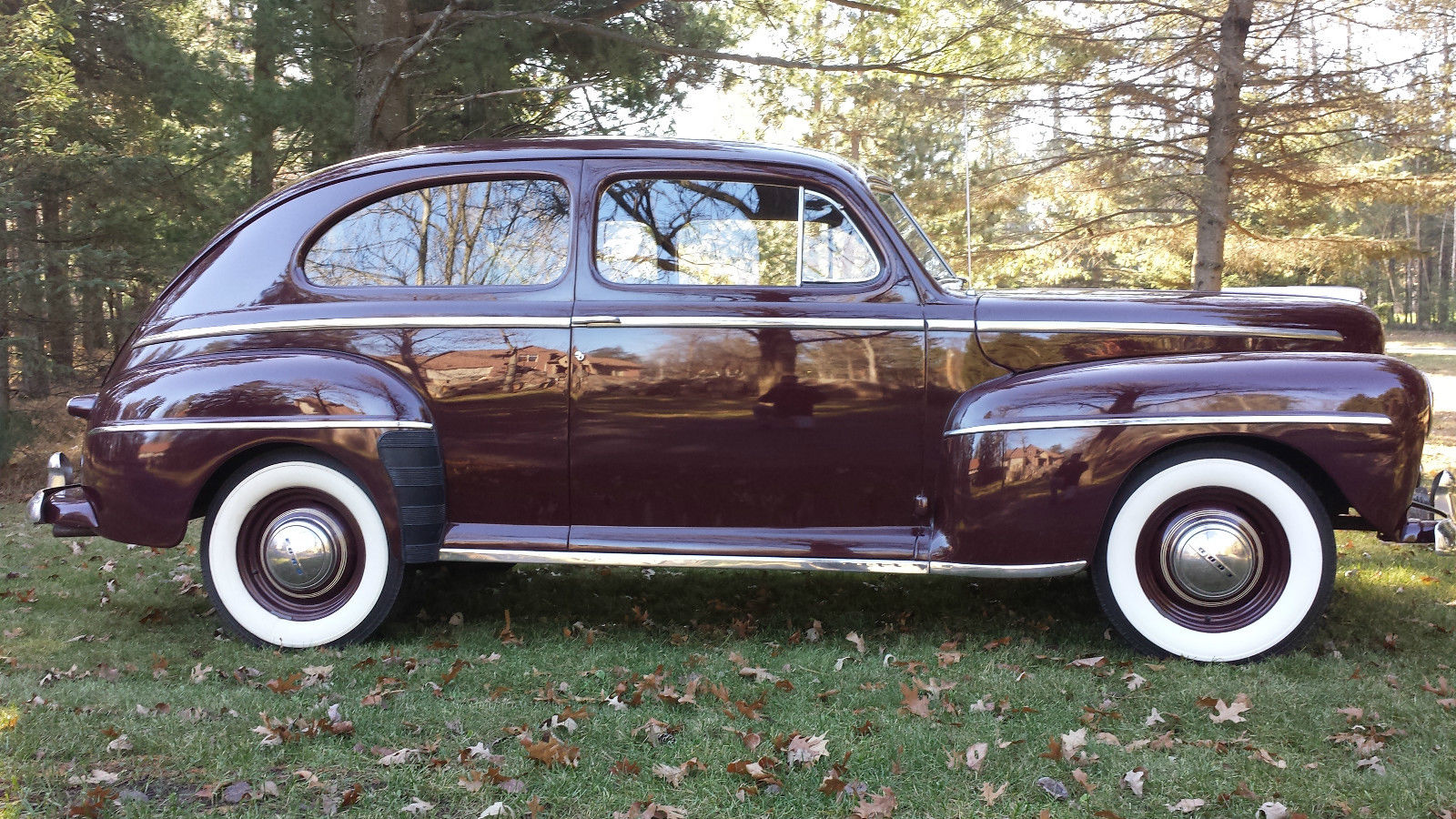 All american classic cars 1948 ford deluxe tudor 2 door sedan for Door 2 door cars