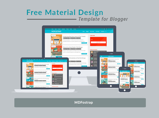 Free Material Design Template Blogger - MDFostrap