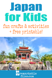 Learning about Japan is fun and hands-on with these free crafts, ideas, and activities for kids! #japan #educational