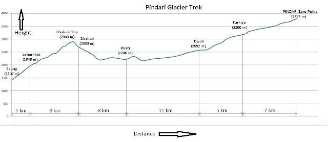 पिण्डारी ग्लेशियर यात्रा- जरूरी जानकारी, नक्शा और खर्चा