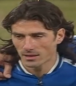 Marco Delvecchio scored four goals in 22 appearances for the Italy national team