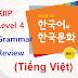 Tổng hợp ngữ pháp lớp KIIP4 Trung Cấp 2 - Korean TOPIK