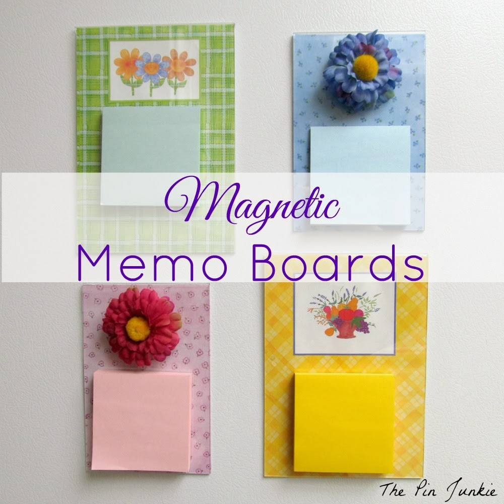 completed diy magnetic memo boards