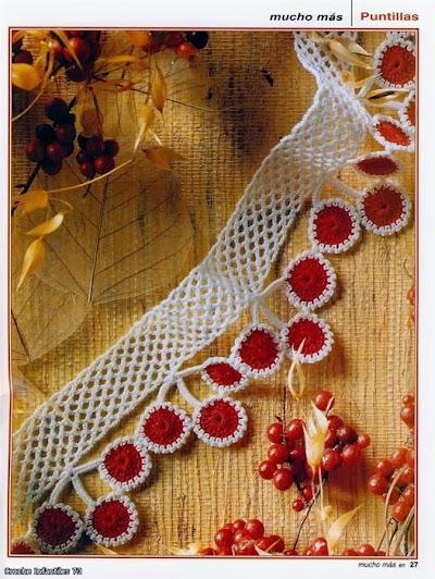 Puntillas de Arcos Motivos de Crochet