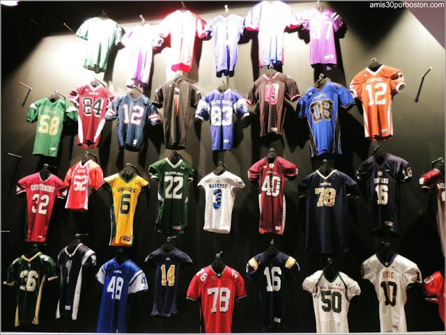 Camisetas de los Equipos de Fútbol Americano de los Institutos de Nueva Inglaterra