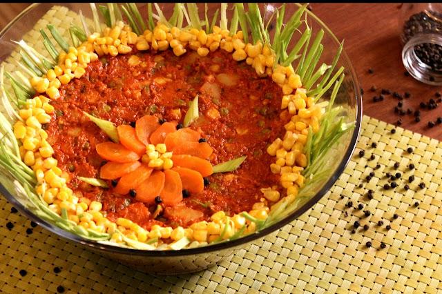 Posna-ruska-salata-prilog-ajvar-povrće