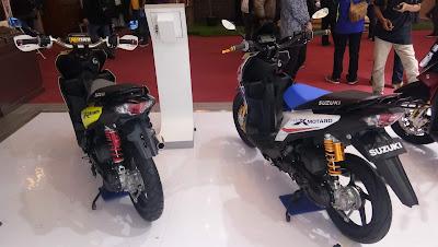 Inilah jadinya jika Suzuki Nex di modifikasi menggunakan stang fatbar Supermoto.