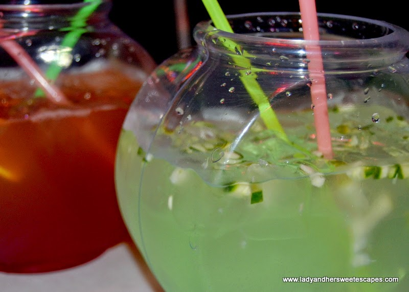 fish bowl mocktail at Dampa restaurant Dubai