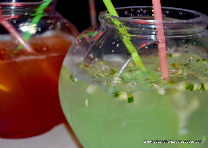 Fish Bowl Mocktail At Dampa Restaurant Dubai