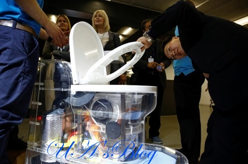 Microsoft Co-founder, Bill Gates Unveils Futuristic Toilet That Turns Human Waste To Fertilizer (Photos)