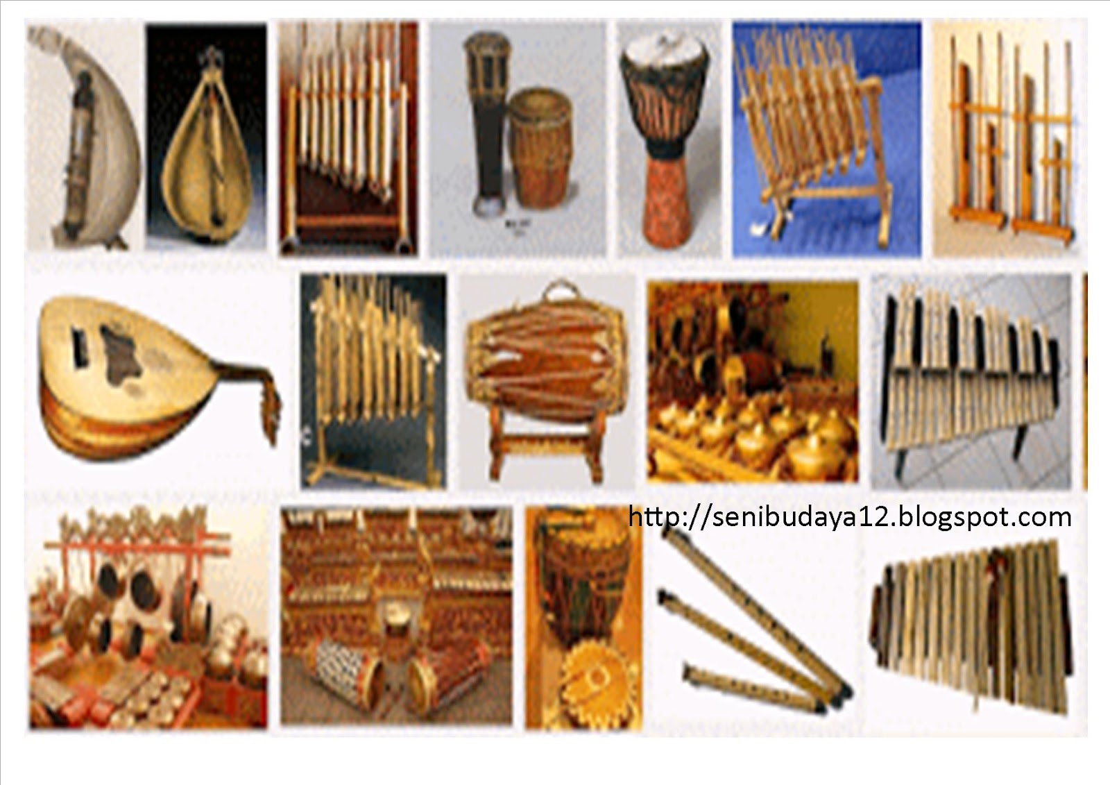 Seni Budaya Alat Musik Tradisional Asal Daerah Di 34 Provinsi