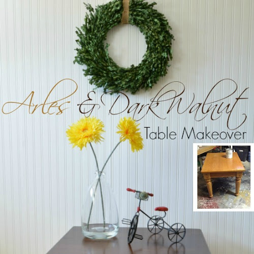 A funny story about an Arles and Dark Walnut Farmhouse Table Makeover