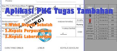 Aplikasi PKG Tugas Tambahan Kepala Laboratorium Excel