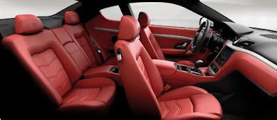 Maserati GranTurismo: the sporty front seats